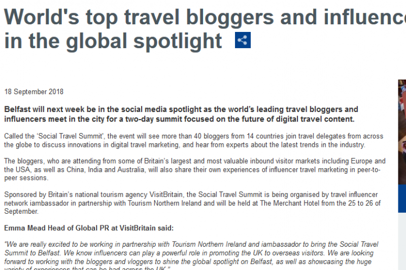 World'S Top Travel Bloggers And Influencers To Put Belfast In The Global Spotlight