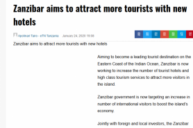 Zanzibar Aims To Attract More Tourists With New Hotels