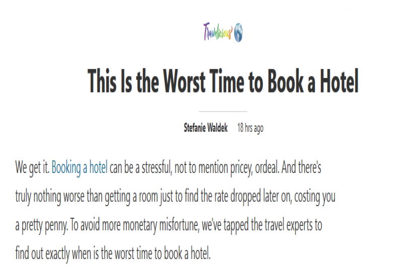 This Is The Worst Time To Book A Hotel