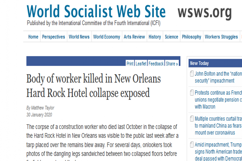 Body of worker killed in New Orleans Hard Rock Hotel collapse exposed