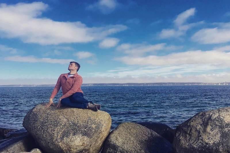 Handsome Travel Blogger At Helsingor,