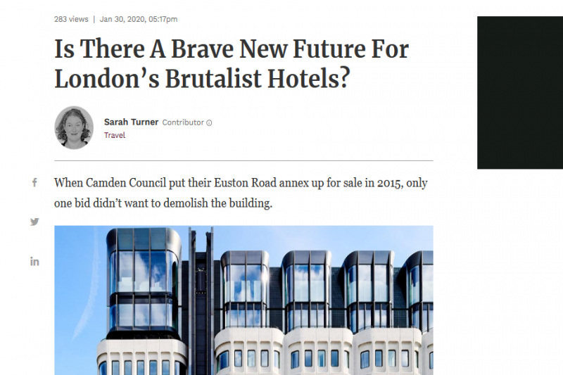 Is There A Brave New Future For London'S Brutalist Hotels?