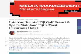 Intercontinental Fiji Golf Resort & Spa Is Mainland Fiji'S Most Luxurious Hotel