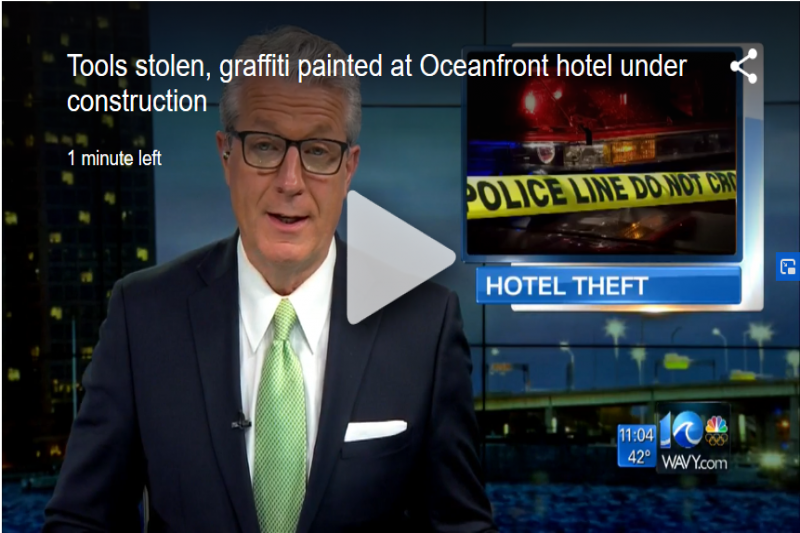 Tools Stolen, Graffiti Painted At Oceanfront Hotel Under Construction