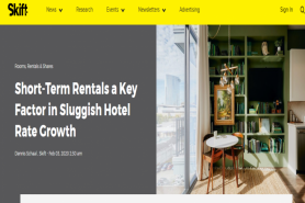 Short-Term Rentals A Key Factor In Sluggish Hotel Rate Growth