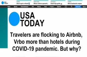 Airbnb, Vrbo more popular than hotels during COVID-19 pandemic