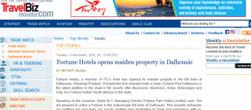 Travel News Fortune Hotels opens maiden property in Dalhousie