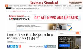 Lemon Tree Hotels Q2 net loss widens to Rs 53.54 cr