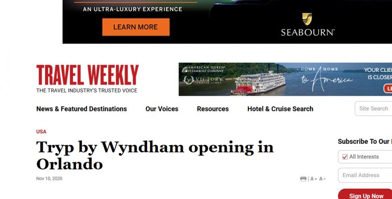 Tryp by Wyndham opening in Orlando