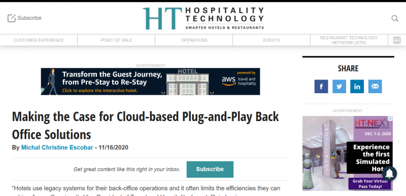 Making the Case for Cloud-based Plug-and-Play Back Office Solutions