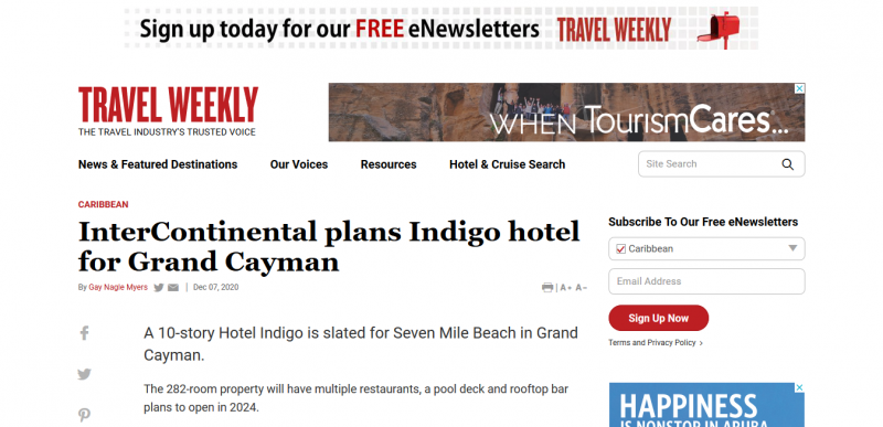 InterContinental plans Indigo hotel for Grand Cayman