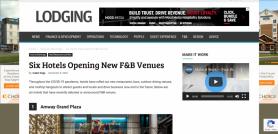 Six Hotels Opening New F&B Venues