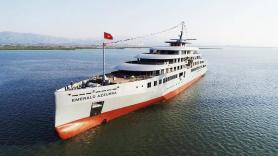 Superyacht Emerald Azzura Floated Out, Interior Outfitting Begins