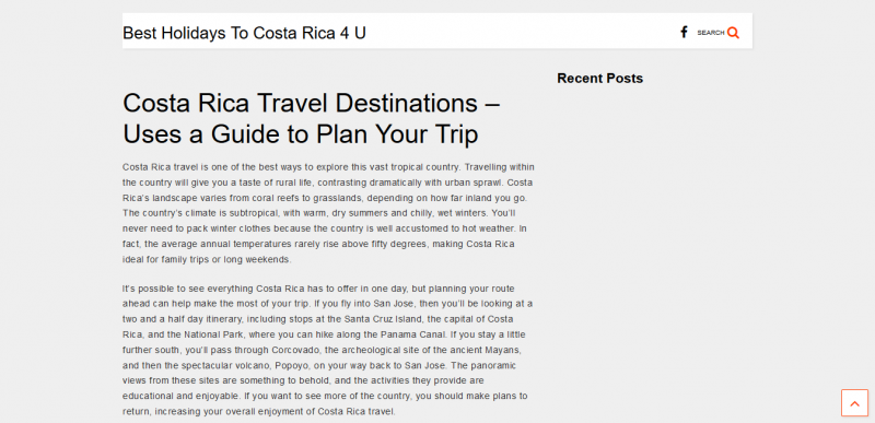 Costa Rica Travel Destinations Uses a Guide to Plan Your Trip