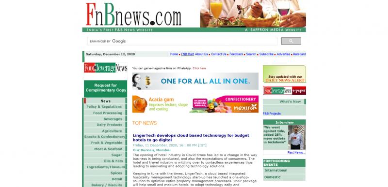 FNB News LingerTech develops cloud based technology for budget hotels to go digital