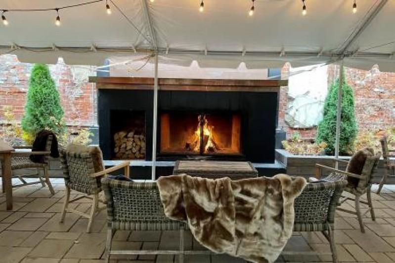 Coppin's at Hotel Covington Turns Patio Into Winter Escape for Outdoor Dining