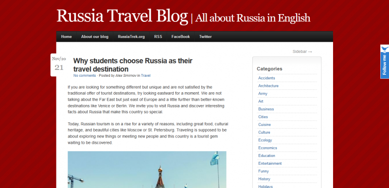 Why students choose Russia as their travel destination