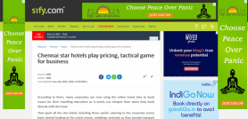 Chennai star hotels play pricing tactical game for business