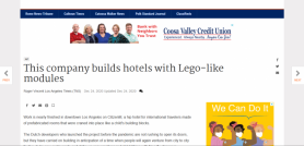 This company builds hotels with Lego-like modules