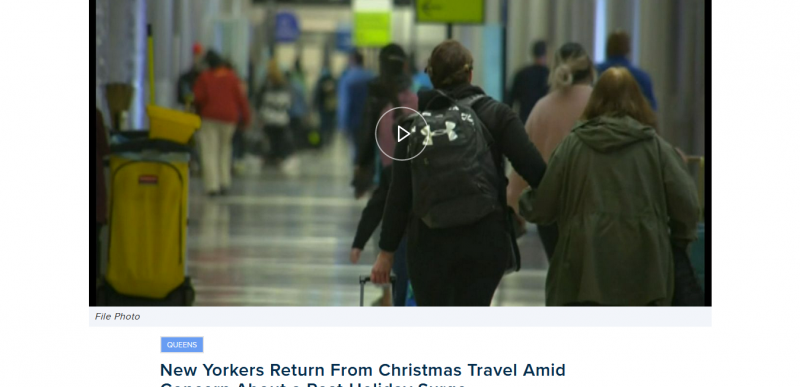 New Yorkers Travel Amid Concern About a Post-Holiday Surge