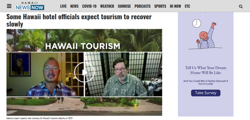Some Hawaii hotel officials expect tourism to recover slowly