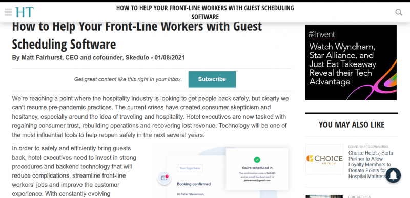 How to Help Your Front-Line Workers with Guest Scheduling Software