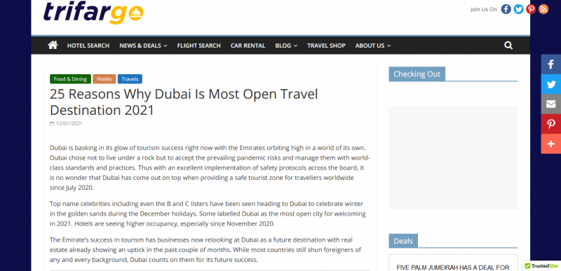 25 Reasons Why Dubai Is Most Open Travel Destination 2021
