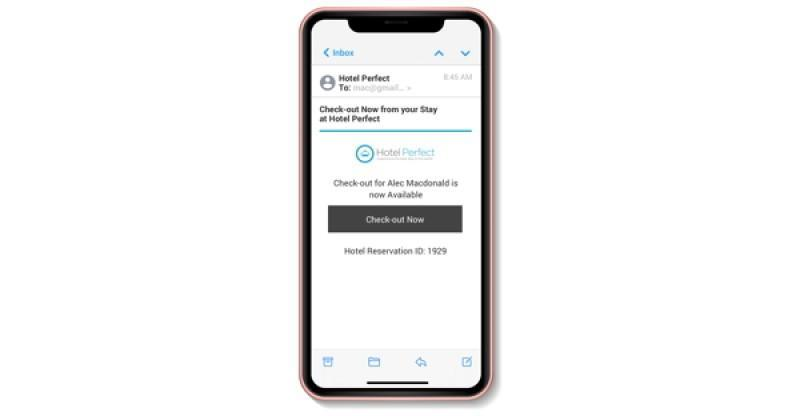 Room Key PMS Releases Mobile Check-Out