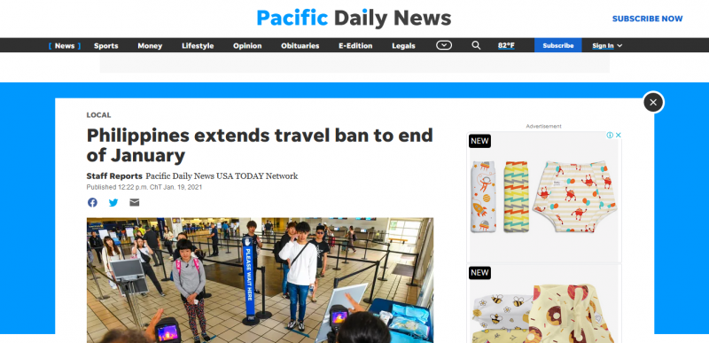 Philippines extends travel ban to end of January