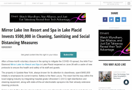 Mirror Lake Inn Resort and Spa in Lake Placid Invests $500,000 in Cleaning, Sanitizing and Social Distancing Measures