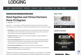 Hotel Equities and Virtua Partners Form 33 Degrees
