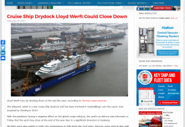 Cruise Ship Drydock Lloyd Werft Could Close Down