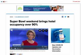 Super Bowl weekend brings hotel occupancy over 90%