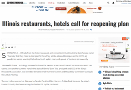 Illinois restaurants, hotels call for reopening plan