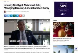Industry Spotlight: Mahmoud Sakr, Managing Director, Jumeirah Zabeel Saray