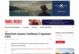 Marriott names Anthony Capuano CEO