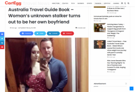 Latest Travel News Free Australia Travel Guide Book – Woman's unknown stalker turns out to be her own boyfriend