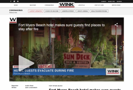 Fort Myers Beach hotel makes sure guests find places to stay after fire