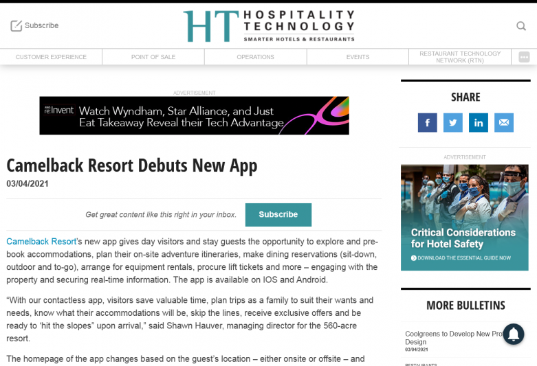 ​​​​​​​Camelback Resort Debuts New App