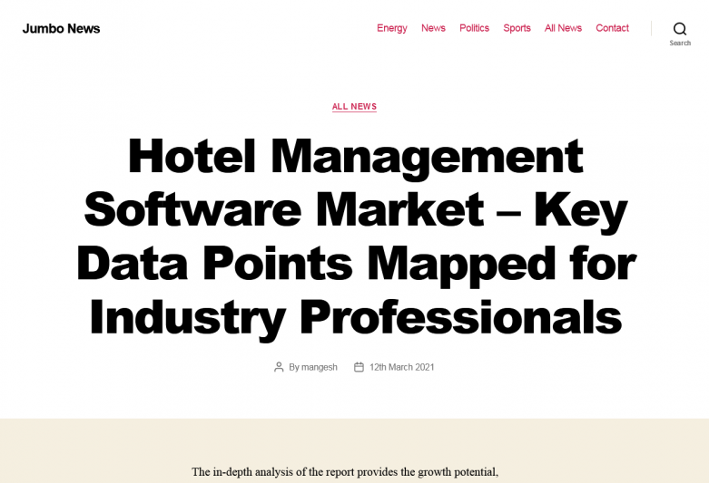 Hotel Management Software Market – Key Data Points Mapped for Industry Professionals