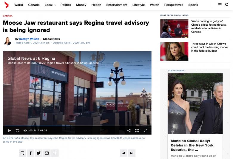 Moose Jaw restaurant says Regina travel advisory is being ignored