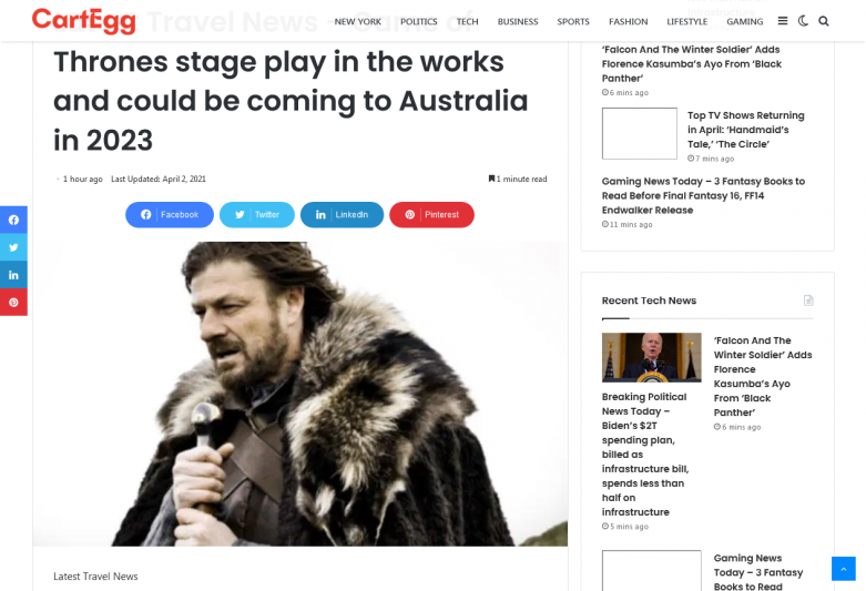 Game of Thrones stage play in the works and could be coming to Australia in 2023