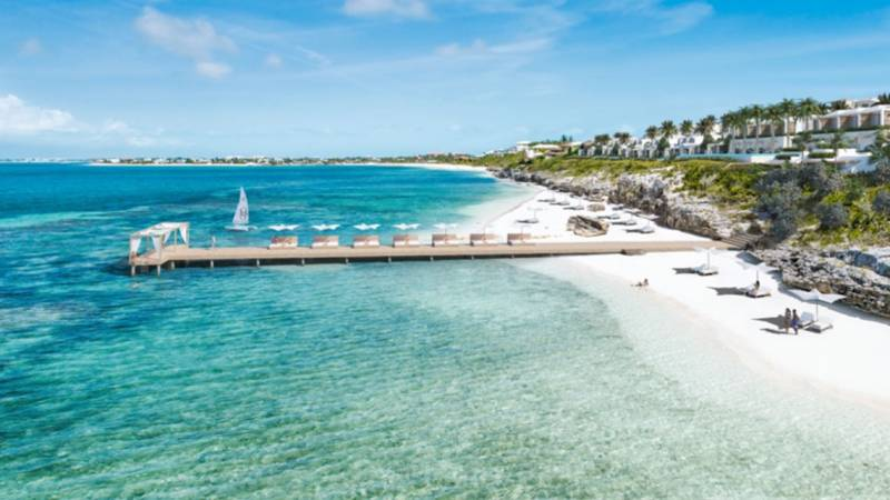 New resort in Turks and Caicos will be set into limestone cliffs