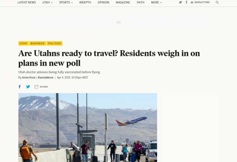 Are Utahns ready to travel? Residents weigh in on plans in new poll