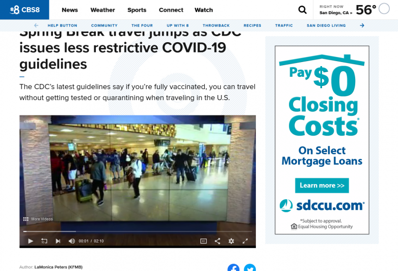 Spring Break travel jumps as CDC issues less restrictive COVID-19 guidelines