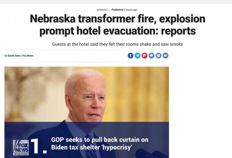 Nebraska transformer fire, explosion prompt hotel evacuation: reports