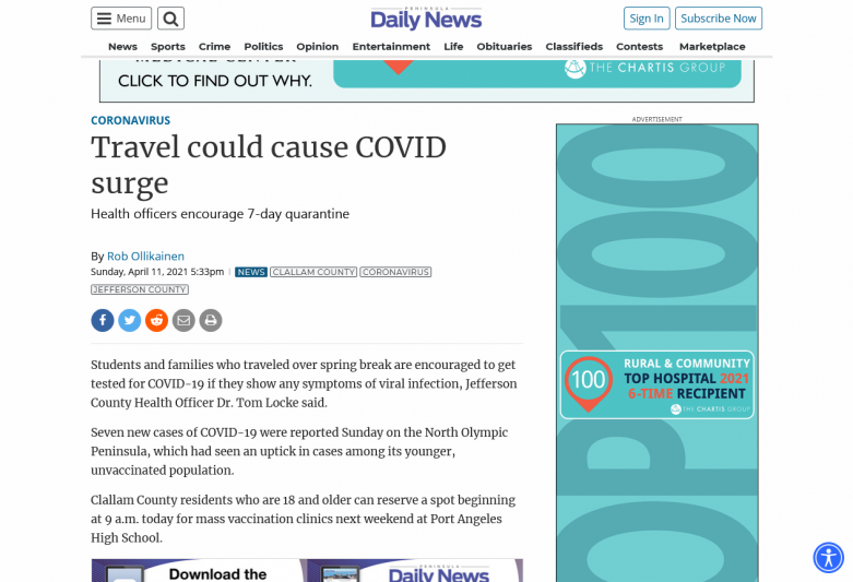 Travel could cause COVID surge
