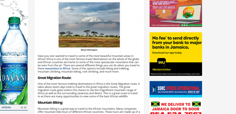 Travel to Mountain Areas in Africa: Exciting Activities to Do
