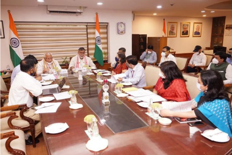 Prahlad Singh Patel and Haryana CM hold meeting on tourism-related projects