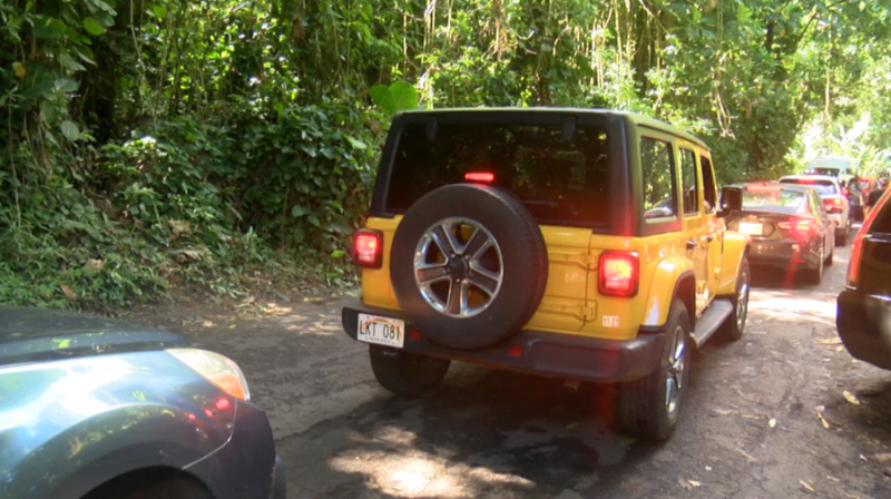 To alleviate congestion on Hana Highway, HTA asks visitors to travel with tour companies